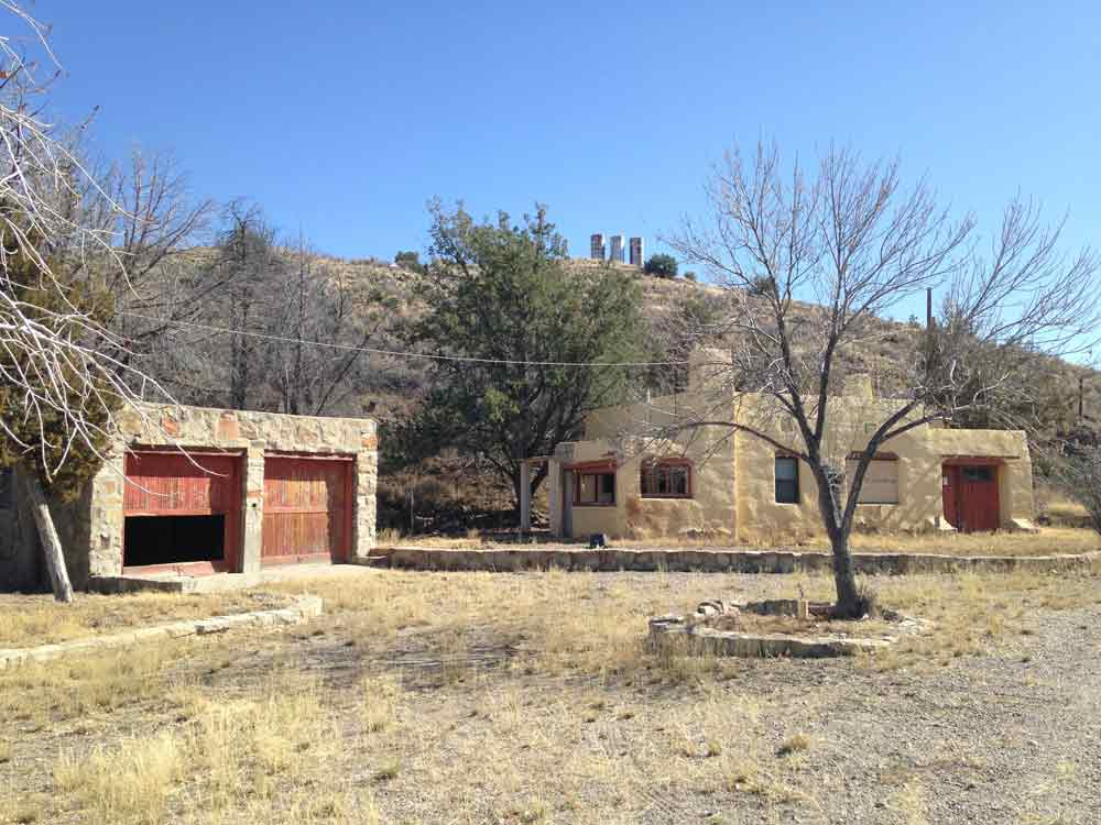 buildings near the Dam Site at Elephant Butte Lake