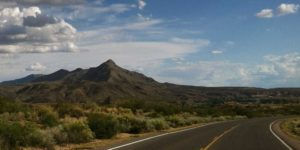 turtle mountain from elephant butte lake