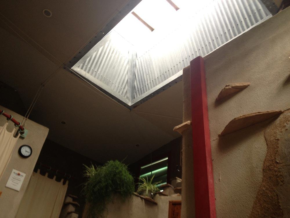 Blackstone Hot Springs Wet Room ceiling