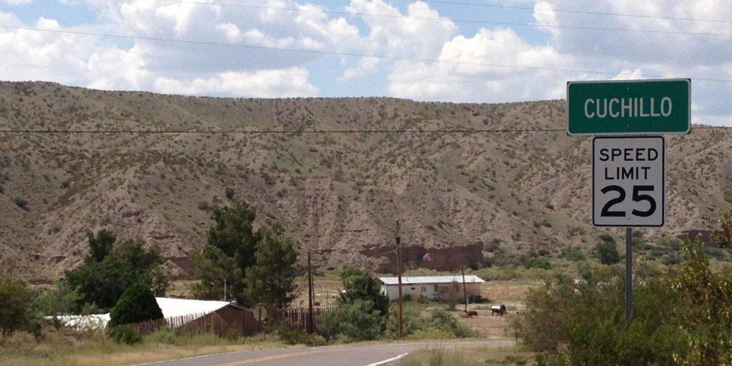 road into Cuchillo New Mexico