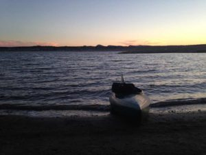 Elephant Butte Lake with kayak