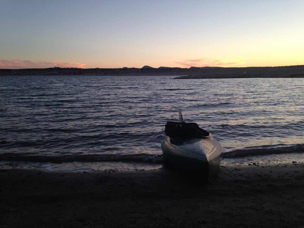 Elephant Butte Lake with kayak