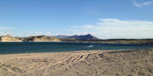 sandy beach at Elephant Butte
