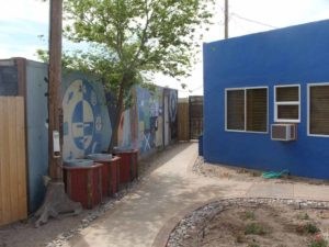murals and bright colors at Riverbend Hot Springs in Truth or Consequences