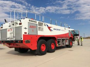 Spaceport America - ARFF emergency vehicle