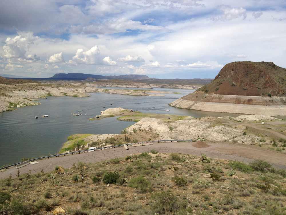boats on the lake near Elephant Butte