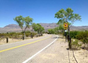 entrance to Caballo Lake State Park