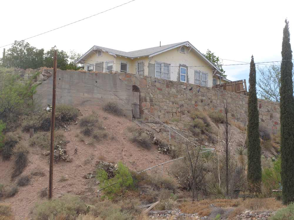house on a hill in Truth or Consequences