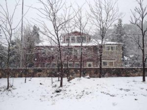 Black Range Lodge in snow