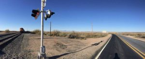 Engle train crossing