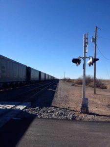 Engle train crossing and train